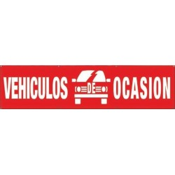 Pancarta vehículos de ocasión rojo