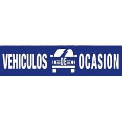 Pancarta vehículos de ocasión azul