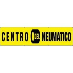 Pancarta centro del neumático