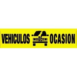 Pancarta vehículos de ocasión amarillo