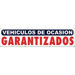 Pancarta vehículos de ocasión garantizados