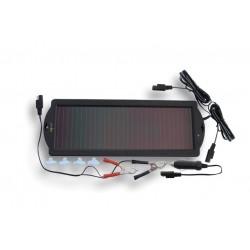Cargador solar para mantenimiento de baterías.