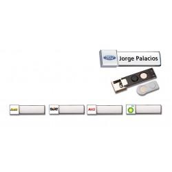 Placas identificación logo 3D