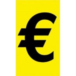 Adhesivo precio amarillo negro