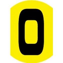 Cifras burbujas amarillo negro