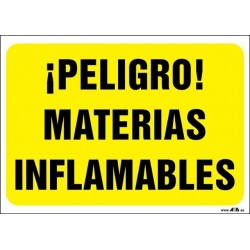 ¡Peligro! Materias inflamables