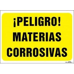 ¡Peligro! Materias corrosivas