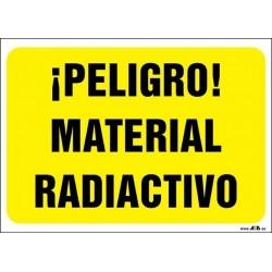 ¡Peligro! Material radiactivo