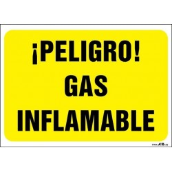 ¡Peligro! Gas inflamable