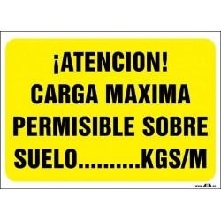 ¡Atención! Carga máxima permisible