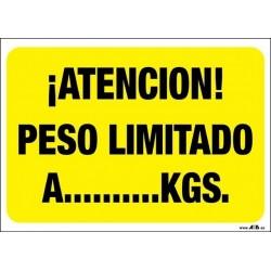 ¡Atención! Peso limitado a... Kgs