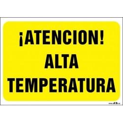 ¡Atención! Alta temperatura