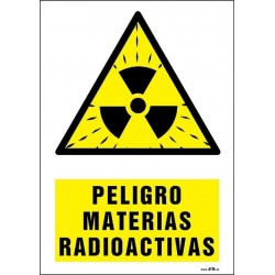 Peligro materias radioactivas