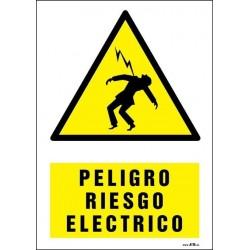 Peligro riesgo eléctrico