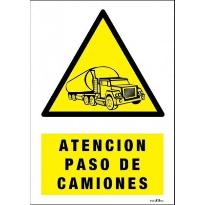Atención paso de camiones