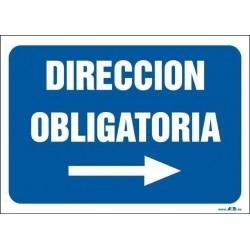 Dirección obligatoria. Flecha derecha