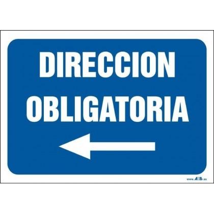 Dirección obligatoria. Flecha izquierda