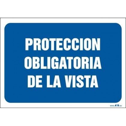 Protección obligatoria de la vista