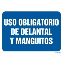 Uso obligatorio de delantal y manguitos