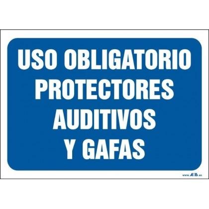 Uso obligatorio protectores auditivos y gafas