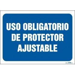 Uso obligatorio de protector ajustable