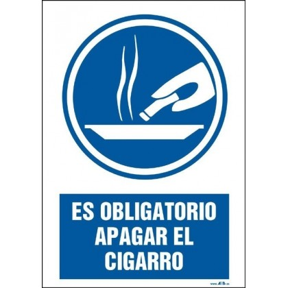 Es obligatorio apagar el cigarro