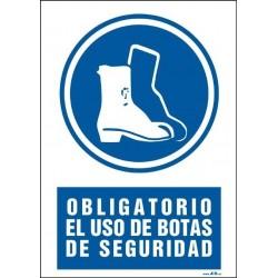 Obligatorio el uso de botas de seguridad