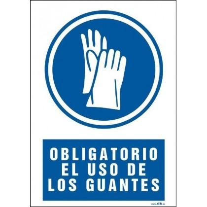 Obligatorio el uso de los guantes