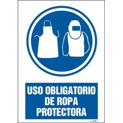 Uso obligatorio de ropa protectora. Modelo II
