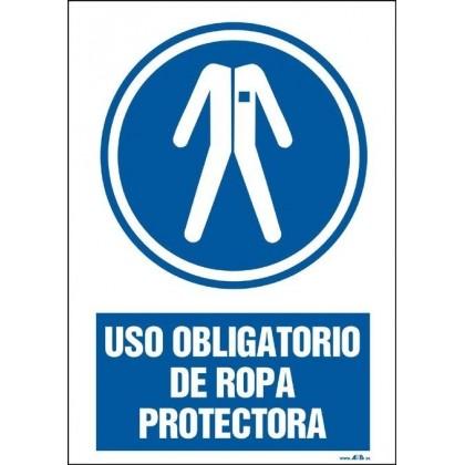 Uso obligatorio de ropa protectora. Modelo I