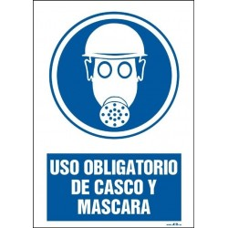 Uso obligatorio de casco y máscara