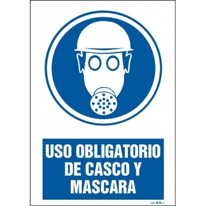 Uso obligatorio de casco y máscara