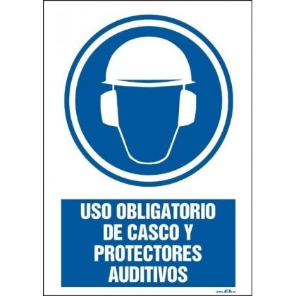 Uso obligatorio de casco y protectores auditívos