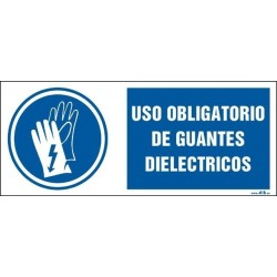 Uso obligatorio de guantes dieléctricos