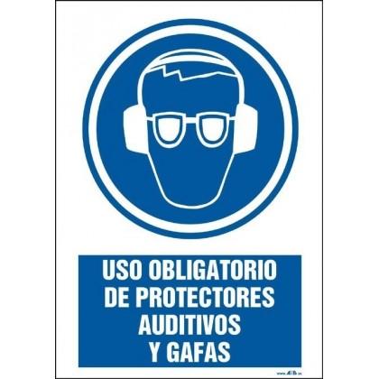 Uso obligatorio de protectores auditivos y gafas