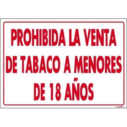 Prohibida venta tabaco a menores