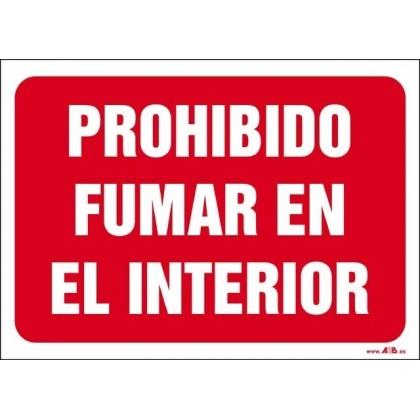 Prohibido fumar en el interior