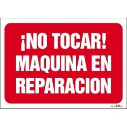 ¡No tocar! Máquina en reparación