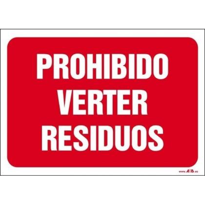 Prohibido verter residuos