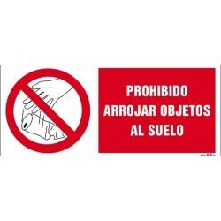 Prohibido arrojar objetos al suelo