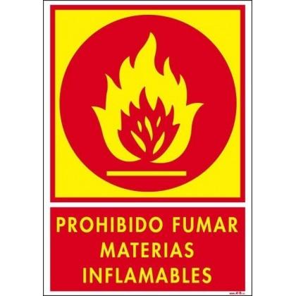 PROHIBIDO FUMAR MATERIAS INFLAMABLES