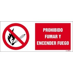 Prohibido fumar y encender fuego
