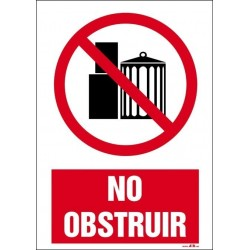 No obstruir