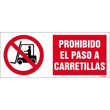 Prohibido el paso a carretillas