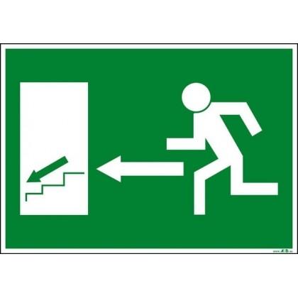 Salida izquierda escaleras abajo