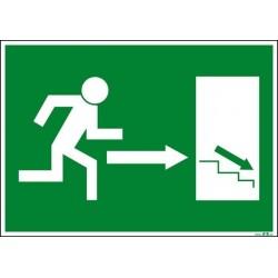 Salida derecha escaleras abajo