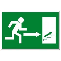 Salida derecha escalras arriba