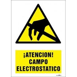 ¡Atención! Campo electrostático