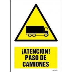 ¡Atención! Paso de camiones