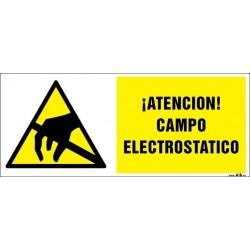 ¡Atención Campo electrostático